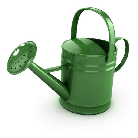 3d render of a green watering can photo