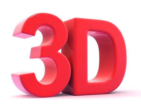 3d:  3D word
