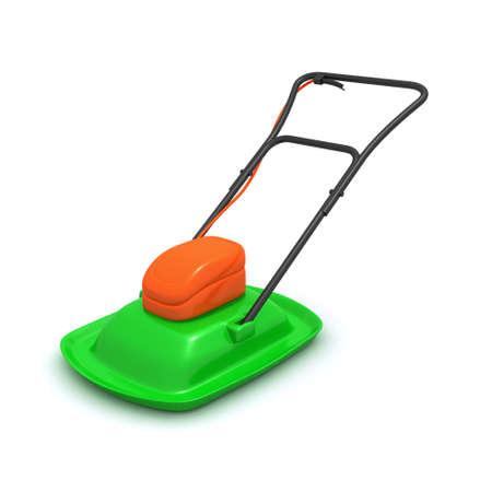 lawnmower: 3d render of an electrical lawnmower