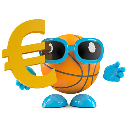 playoff: 3d render of a Euro currency symbol