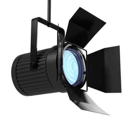 3d render of a studio spotlight pointing upwards photo