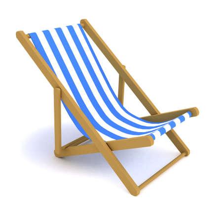 deck chair: 3d render of a deck chair