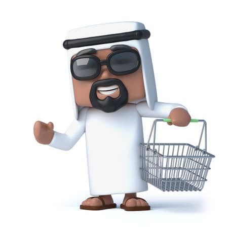 goes: 3d Arab goes shopping