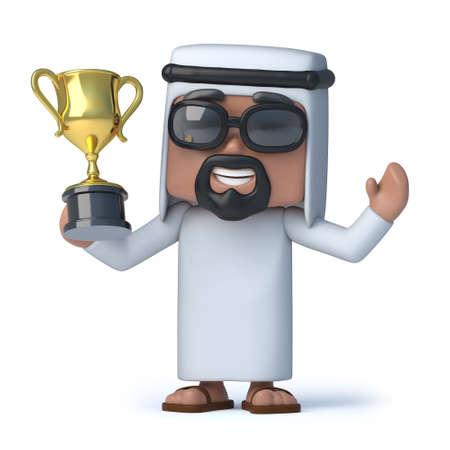 wins: 3d Arab wins the gold cup trophy