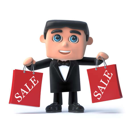 debonair: 3d Bow tie spy has been to the sales