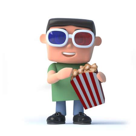 watching 3d: 3d Nerd is watching a 3d movie