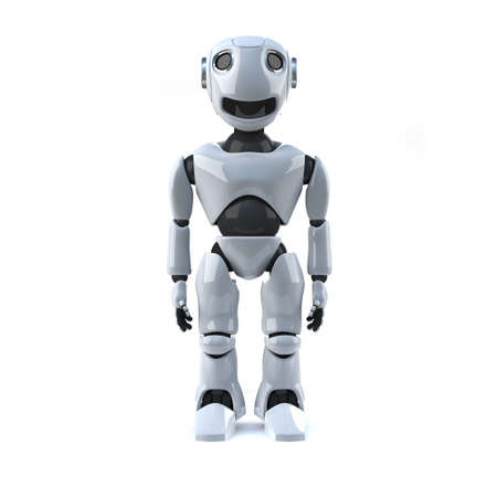 automaton: 3d render of a robot standing still Stock Photo