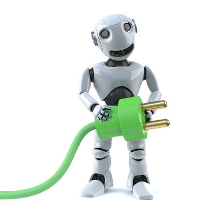 uses: 3d Robot uses green energy