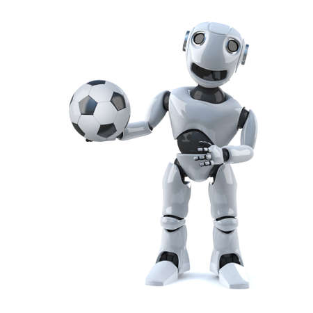 wants: 3d Robot wants to play football