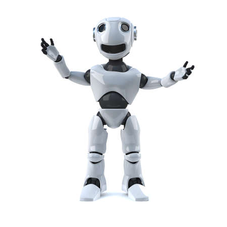 automaton: 3d Robot Stock Photo