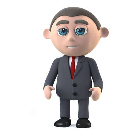 shareholder: 3d render in a cartoon style of a businessman. Stock Photo