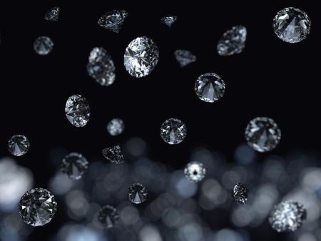 Falling diamonds background