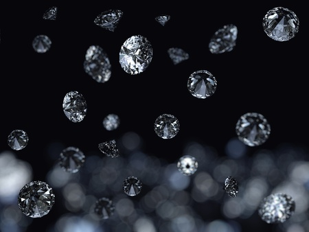 Falling diamonds background