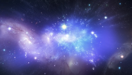 loopable: Beautiful universe background Stock Photo