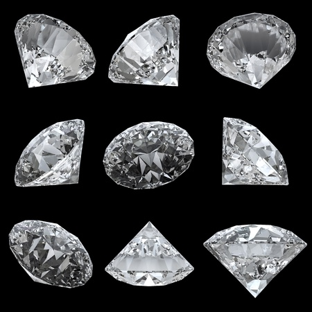rough diamond: Set of 9 diamonds