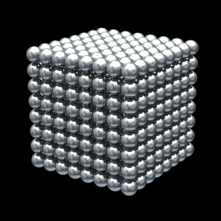 Magnetic metal balls cube