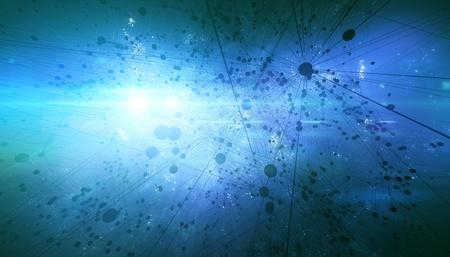 Abstract universe molecules