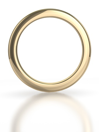 Golden ring isolated with clipping path 版權商用圖片