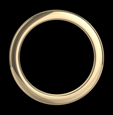 Golden ring isolated with clipping path Stock Photo