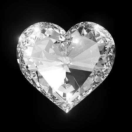 coeur diamant: Coeur de diamant isolé avec chemin de détourage