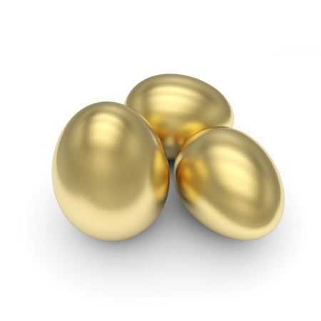 priceless: Golden Eggs isolated with clipping path