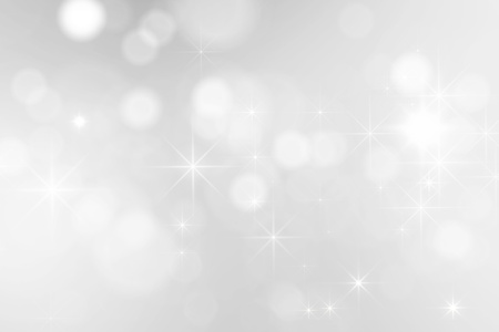a white background: bright silver sparkles background Stock Photo