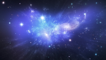 Blue universe illustration