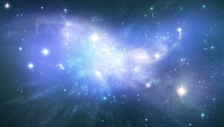 Blauwe universum achtergrond
