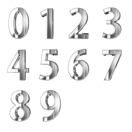 bevel: golden numbers isolated with clippign path