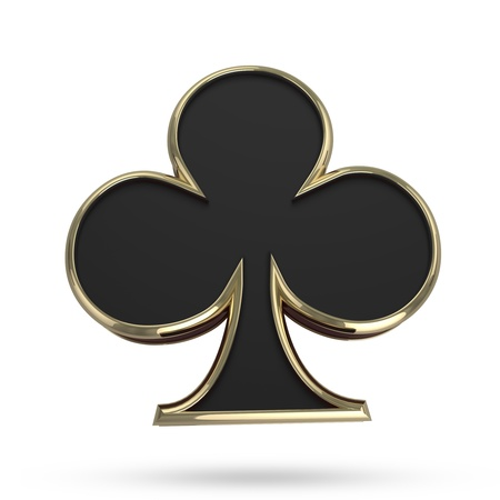 Poker symbol isolated on white with clipping path photo