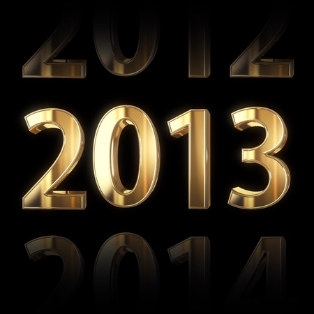 shining golden new year background photo