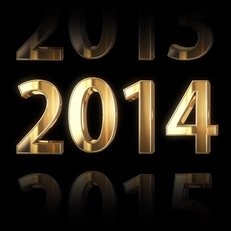 shining golden new year background Stock Photo - 18935995