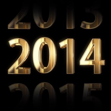 shining golden new year background Stock Photo - 18935995