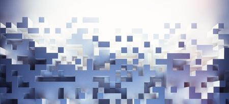 Abstracte kubussen achtergrond - hq verlichting Stockfoto - 19301919