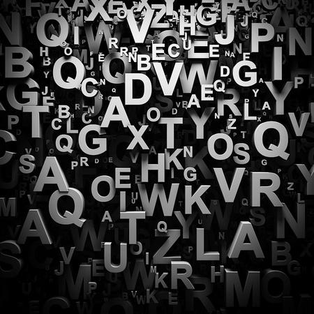 3D letters wallpaper Stockfoto