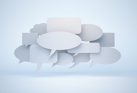 blank speech bubble cloud - isolated with clipping path