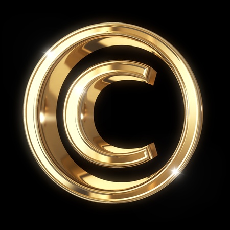 Copyright symbol with clipping path Stock Photo