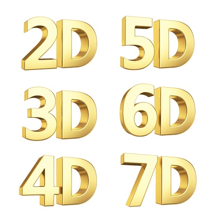 stereoscope: Golden symbol isolated on white with clipping path