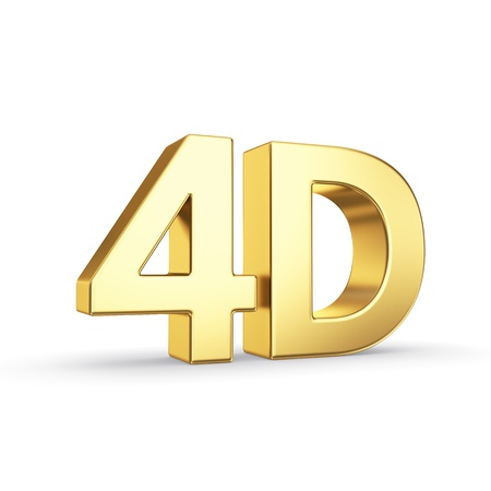 dimensions: Golden symbol isolated on white with clipping path