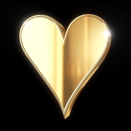 Gouden teken geïsoleerd op zwart met clipping path