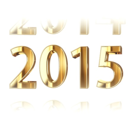 New year 2015 - computer generated 3D render photo