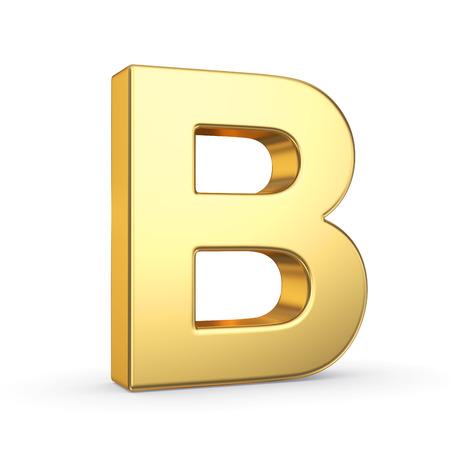 3D gouden letters Stockfoto