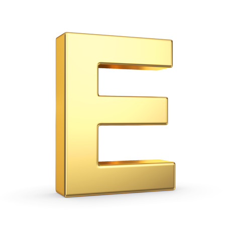 3D golden letter  photo