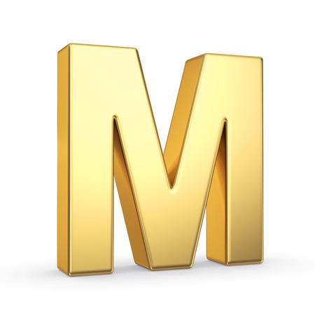 gold bar: 3D golden letter