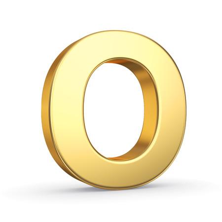 3D golden letter