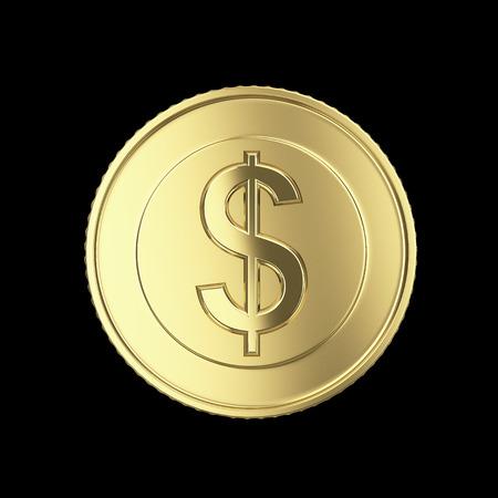one us dollar coin: Beautiful golden dollar coin