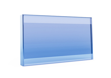 Empty blue glass frame  photo