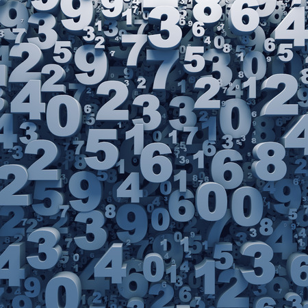 추상 3D 번호 배경 컴퓨터 렌더링 생성 스톡 콘텐츠