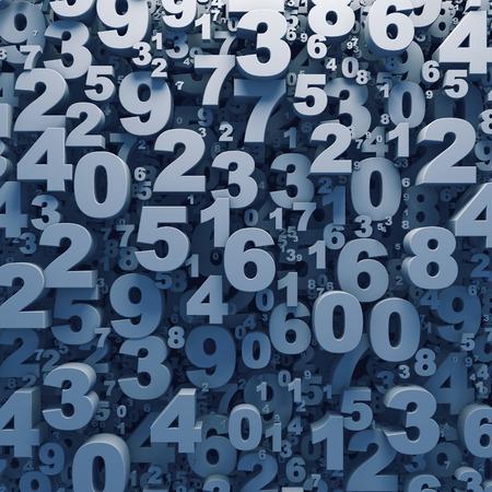 3 D 数字の抽象背景コンピューター生成レンダリング
