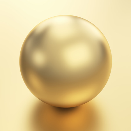 Beautiful golden sphere   Stock Photo - 25587630